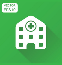 hospital building icon business concept infirmary vector image