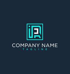 Ir ri initial logo luxury design inspiration vector