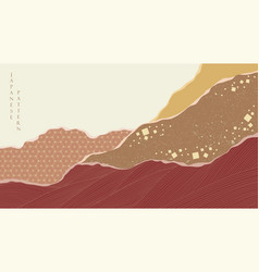 japanese background with asian vintage pattern vector image