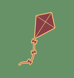 Kite sign cordovan icon and mellow vector