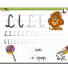 Learn to write letter l vector