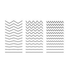 line wave stroke zigzag squiggle curve vector image