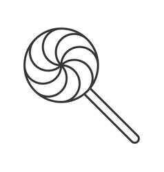 Lollipop sweets and candy icon thin line editable vector