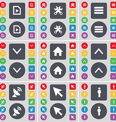 Media file Wrench Apps Arrow down House Arrow up vector