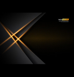 Modern abstract 3d background with black paper vector