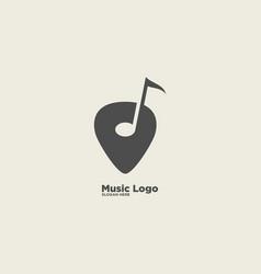 Music store logo design template vector