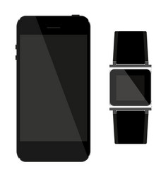 network which includes telephone and watches vector image