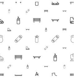 Outdoors icons pattern seamless white background vector