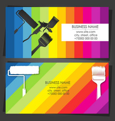 painter decorator business card with tool vector image