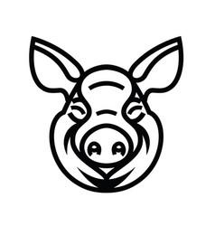 Pig head logo mascot emblem vector