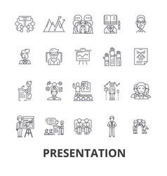 presentation business presenter meeting vector image