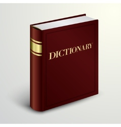Red dictionary book vector