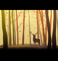 Silhouette of a deer vector