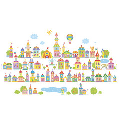 Small toy town vector