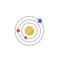 solar system colored icon element of space signs vector image