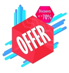 Special offer sale tag discount symbol mega sale vector