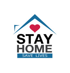 Stay at home coronavirus defensive campaign or vector