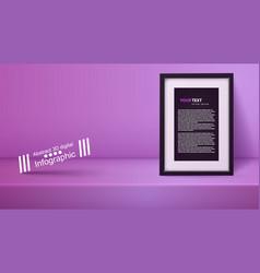 template empty purple studio photostudio room vector image