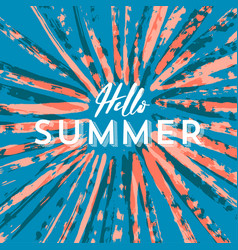 template hello summer sign on grunge background vector image