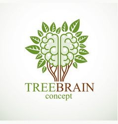 Tree brain concept the wisdom of nature vector