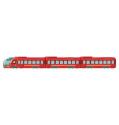 underground subway train transportation in metro vector image