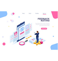 user choice rating concept vector image