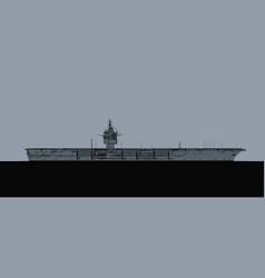 Uss enterprise us navy nuclear aircraft carrier vector