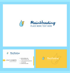 Water drop with current logo design with tagline vector