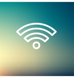Wifi thin line icon vector image