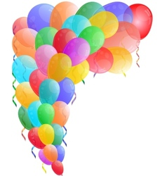Color background with glossy balloon vector image vector image
