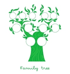 Family tree thin line style vector image vector image