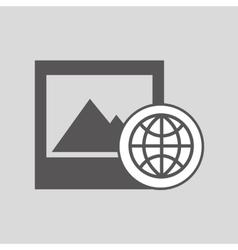 global digital picture network design vector image vector image