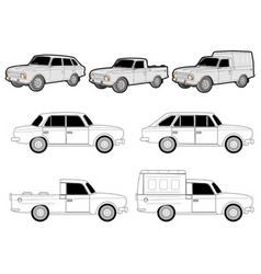various car modifications vector image vector image