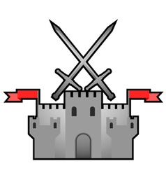 Castle medieval design vector image