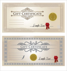 certificate frame vector image vector image