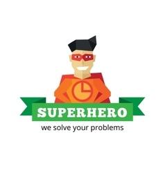 flat super hero logotype Cartoon style vector image