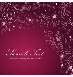 Floral twirl postcard lilac vector image vector image