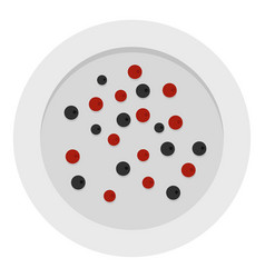 red and black peppercorns icon isolated vector image vector image
