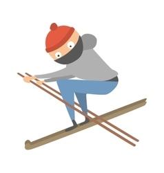 Skiing human trick vector