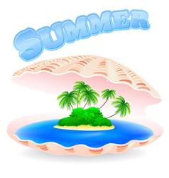 Tropical Island Shell vector image vector image