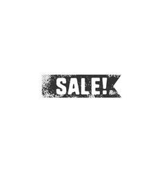vintage hand drawn black sale ribbon in retro vector image
