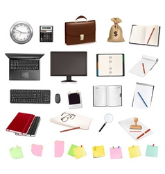 mega set business elements vector image vector image
