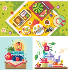 Picnic in the park vector image