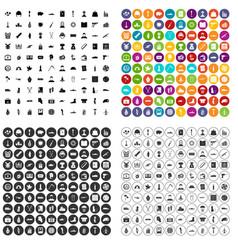 100 war crimes icons set variant vector