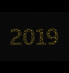2019 golden numbers vector