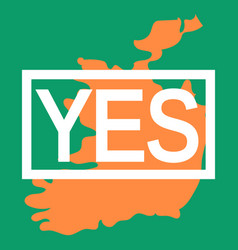 Abortion rights in the republic of ireland may 25 vector