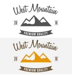 Abstract mountain logo label emblem badge and vector