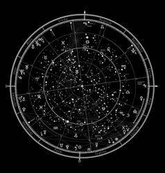 Astrological horoscope on january 1 2019 vector