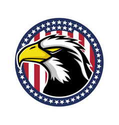 bald eagle and flag usa vector image
