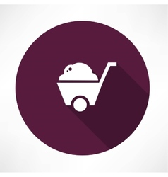 barrow full of ground icon vector image
